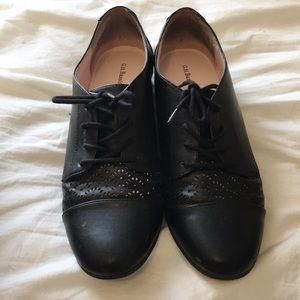 G.H. Bass Black Lighthouse Shoes Oxfords